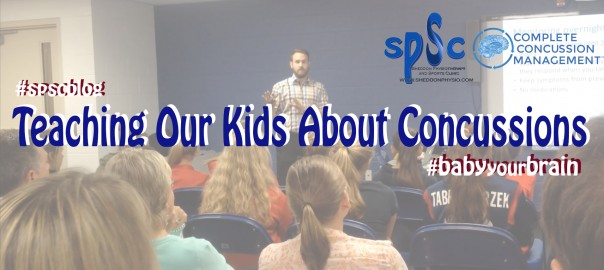 Teaching kids about concussion Sheddon Physio Sports Clinic Oakville Mississauga