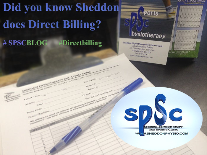 Insurance Sheddon Physio Sports Clinic Oakville Mississauga