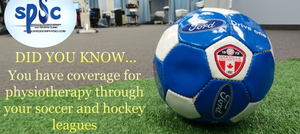 Physio Coverage Soccer and Hockey Sheddon Physio Sports Clinic Oakville Mississauga