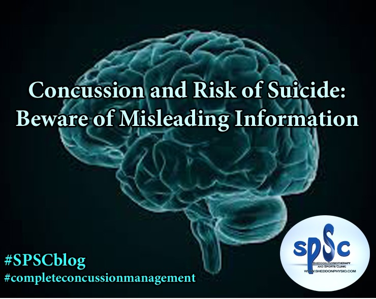 Concussion and Risk of Suicide: Beware of Misleading Information