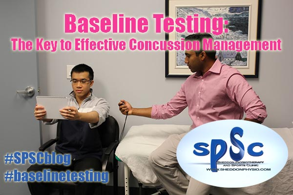 Baseline test concussion Sheddon Physioyherapy Sports Clinic Oakville Mississauga