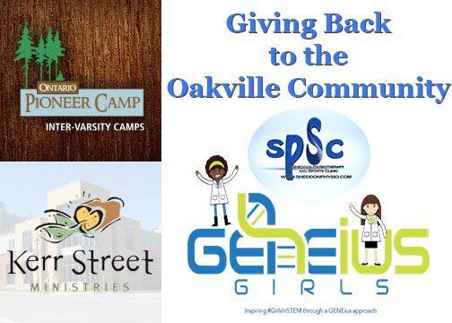 Giving Back to the Oakville Community