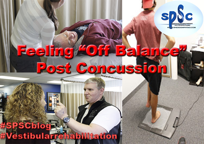 off balance post concussion physiotherapy sports clinic oakville mississauga