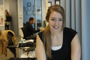 Emily Desmarais at Sheddon Physio Sports Clinic Oakville Mississauga