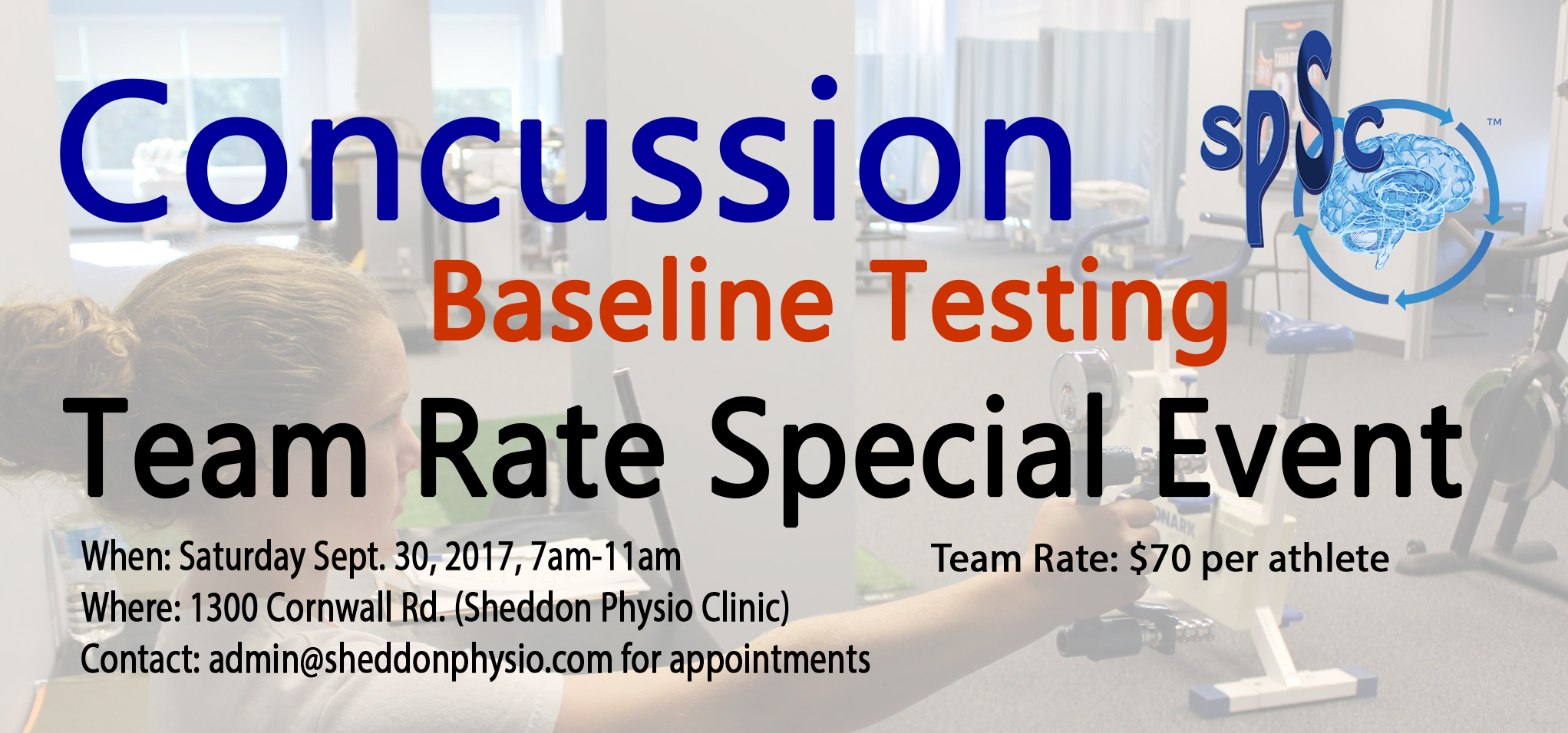 Concussion testing and management Sheddon sports clinic Oakville