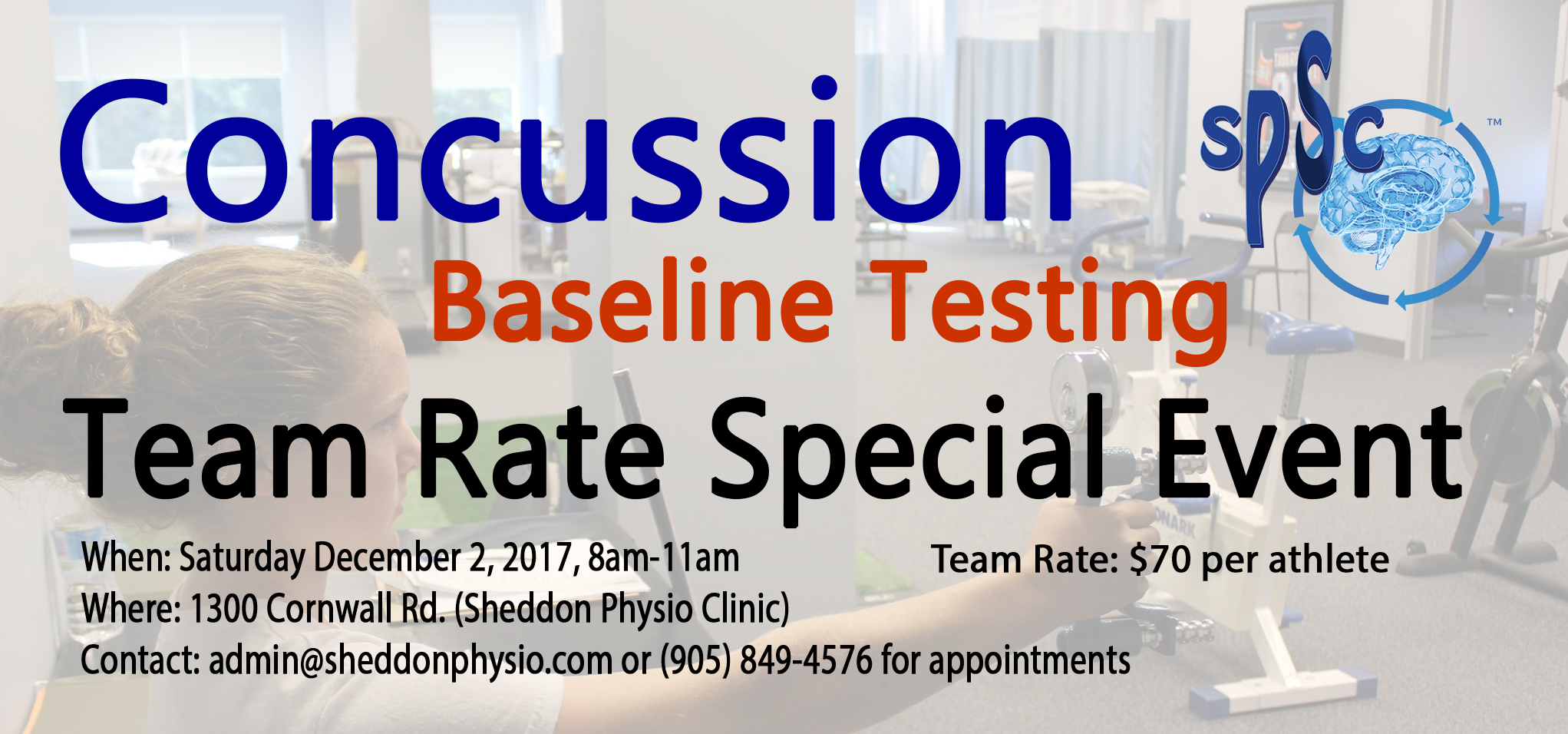 SPECIAL EVENT: Concussion Baseline Testing
