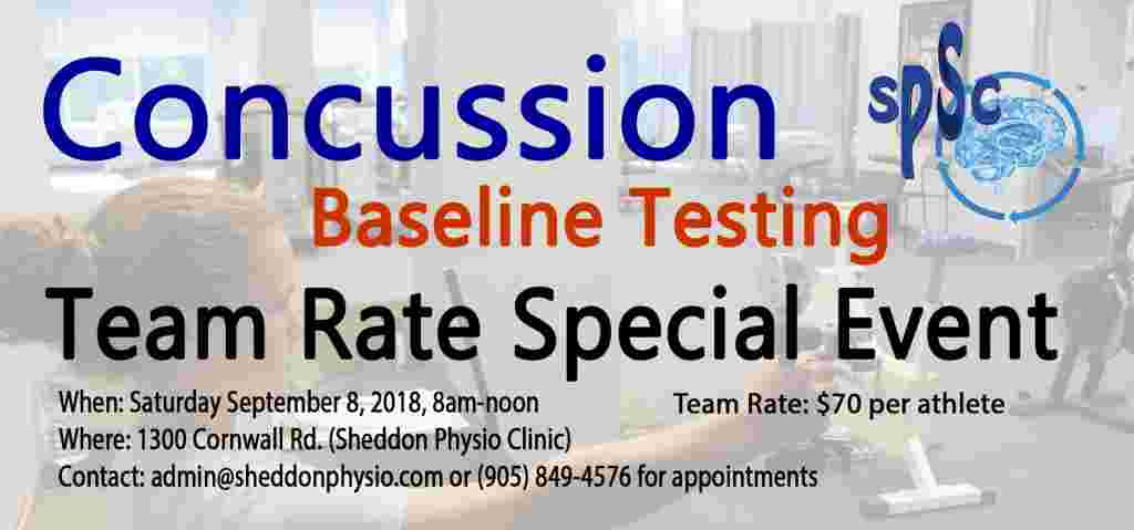 SPECIAL EVENT Concussion Baseline Testing