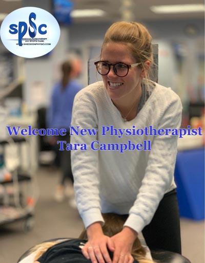 Tara Campbell sports physiotherapist Sheddon Oakville