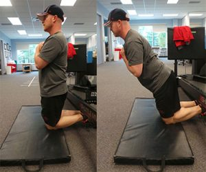 Nordic Hamstring exercise for injury prevention Sheddon Physio Sports Clinic Oakville Mississauga
