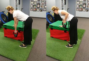 One arm row exercise soccer injury prevention Sheddon Physio Sports Clinic Oakville Mississauga