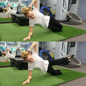side plank exercise soccer injury prevention Sheddon Physio Sports Clinic Oakville Mississauga