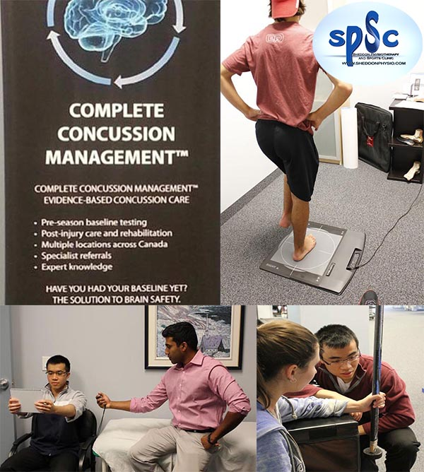 Concussion Baseline Test at Sheddon Physio Sports Clinic Oakville