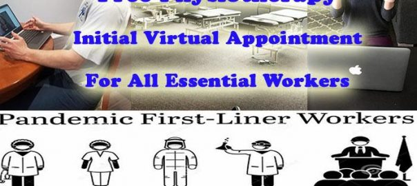 virtual appointement essential workers Sheddon Physion Sports Clinic Oakville Mississauga