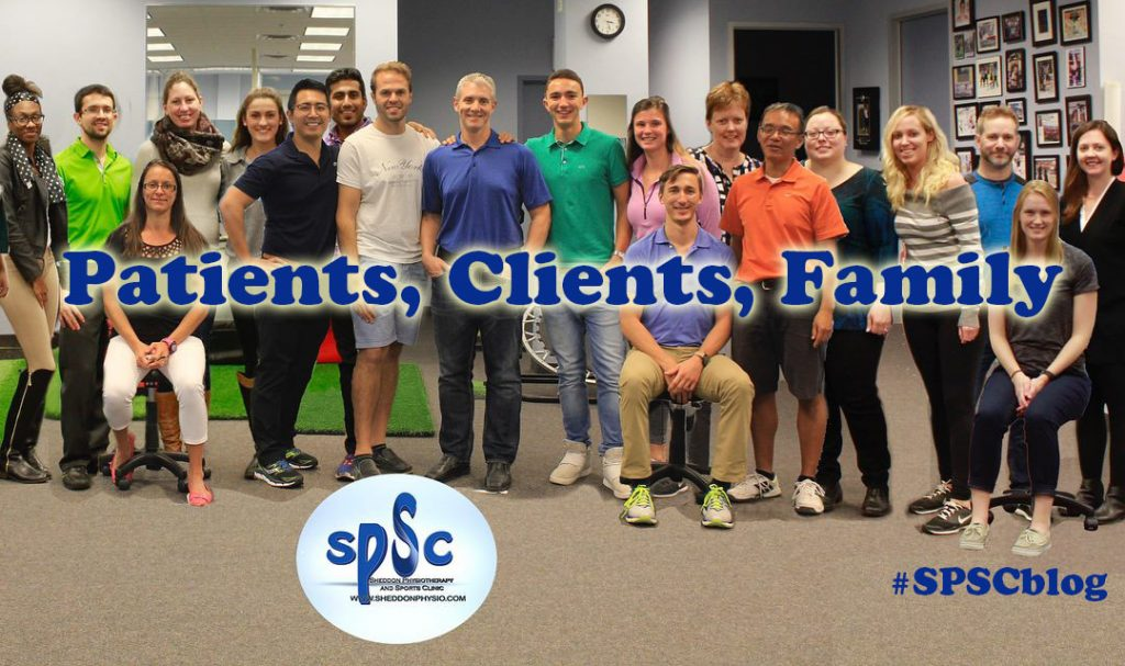 Patients Clients Family Sheddon Physiotherapy Sports Clinic Oakville